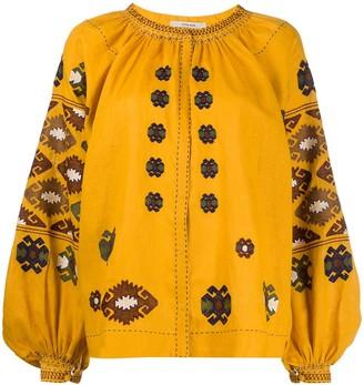 Vita Kin Beaded Embroidered Blouse