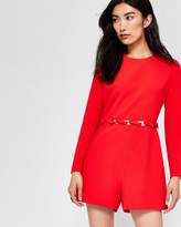 Ted Baker Cut-out bow playsuit