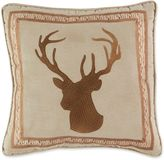 Croscill Cold Springs Deer Square Throw Pillow in Brown