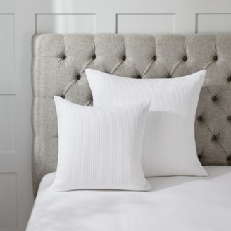 The White Company Florian Cushion Cover, White, Large Square