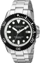 Stuhrling Original Men's 'aquadiver' Swiss Quartz Stainless Steel Casual Watch (Model: 328B.33111)