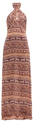 Johanna Ortiz Traditions Of Traditions Crepe Georgette Dress - Womens - Pink Multi