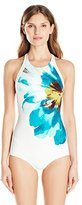Carmen Marc Valvo Women's Peony High Neck Maillot