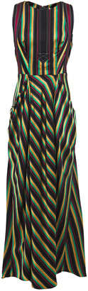 3.1 Phillip Lim Striped Satin-twill Midi Dress