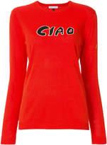 Bella Freud Ciao intarsia-knit jumper