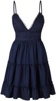 Goodnight Macaroon 'Kim' Lace Crochet Back Tied Cami Dress (5 Colors)