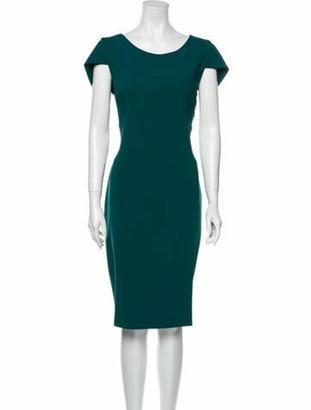 Antonio Berardi Scoop Neck Knee-Length Dress Green