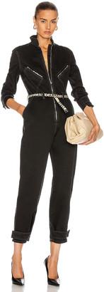 Stella McCartney Denim All In One Jumpsuit in Black   FWRD