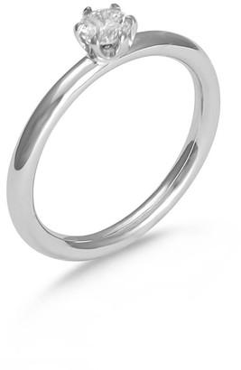 Hargreaves Stockholm Stardust 18Ct Gold & Diamond Single Stone Ring