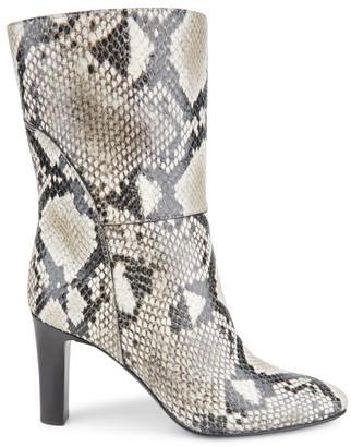 Giuseppe Zanotti Snakeskin-Embossed Leather Boots