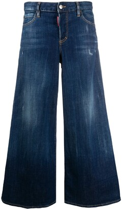 DSQUARED2 Cropped Flared Jeans