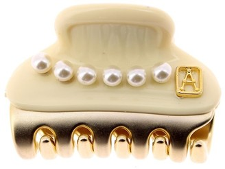 Alexandre de Paris Vendome Clip White Pearls 3Cm