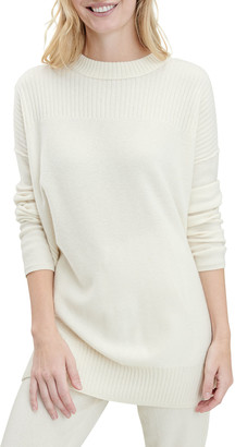 Splendid Mock-Neck Cashmere Sweater