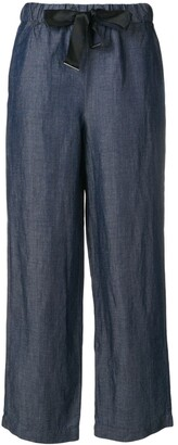 Emporio Armani Ribbon Tied Straight Trousers