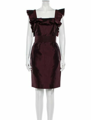 Dolce & Gabbana Square Neckline Knee-Length Dress