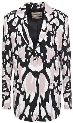 Roberto Cavalli Printed Stretch-cady Blazer