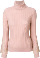 Blumarine fitted knitted sweater