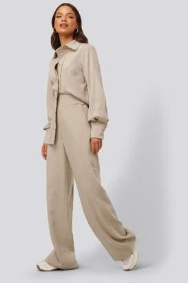 NA-KD Raw Edge Wide Leg Suit Pants