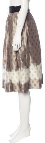 Giambattista Valli Silk Ombré Skirt
