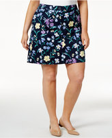 Karen Scott Plus Size Floral-Print Skort, Only at Macy's