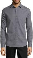 Haggar Long Sleeve Printed Button-Front Shirt
