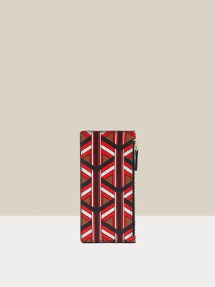 Diane von Furstenberg Devon Leather Zip Cardholder