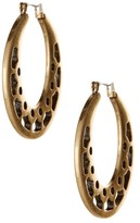 Lucky Brand Open Work Hoop Earrings