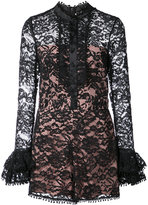 Alexis ruffle cuff lace playsuit
