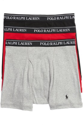 Polo Ralph Lauren 3-Pack Cotton Boxer Briefs