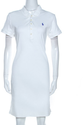 Ralph Lauren White Cotton Polo Dress L