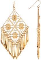 Stephan & Co Diamond Filigree Fringe Drop Earrings
