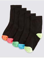 Marks and Spencer 5 Pairs of FreshfeetTM Socks (3-11 Years)