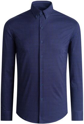 Bugatchi Men's Long-Sleeve Cotton Tech Sport Shirt