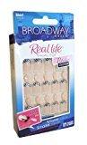 Broadway Fashion Diva Nails ~ 7 Day Wear (Short, French Zebra) by Broadway DIVA by Broadway DIVA