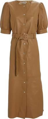 Gestuz Suri Leather Shirt Dress