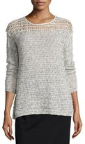 Line Russel Long-Sleeve Sweater, Blithe/Buff