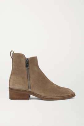 3.1 Phillip Lim Alexa Suede Ankle Boots - Light brown