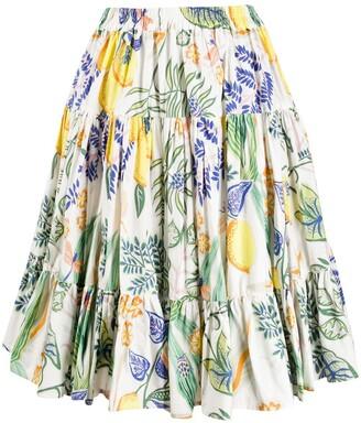 La DoubleJ Love botanical-print skirt