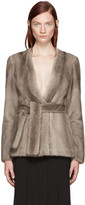 Brock Collection Taupe Mink Faye Jacket