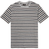 Paul Smith Striped Cotton-blend Jersey T-shirt - Gray