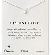 Dogeared Sterling Anchor Friendship Reminder Boxed Necklace