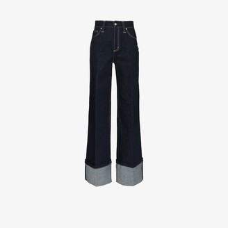 Chloé Wide Leg Folded Jeans