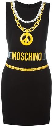 Moschino trompe-l'oeil chain necklace dress