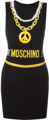 Moschino Trompe-L'oeil Chain Necklace Dress