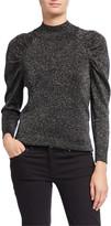 Joie Artima Metallic Puff-Sleeve Sweater