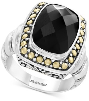 Effy Eclipse by Onyx (14 x 10mm) Ring in Sterling Silver & 18k Gold