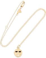 Alison Lou Medium Joe Cool Enameled 14-karat Gold Necklace