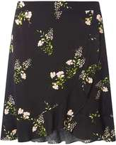 Dorothy Perkins Black Ditsy Ruffle Mini Skirt