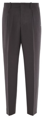 Our Legacy Borrowed Wool Wide-leg Trousers - Mens - Grey