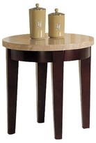 ACME Furniture Britney Coffee Table White Marble & Walnut - ACME